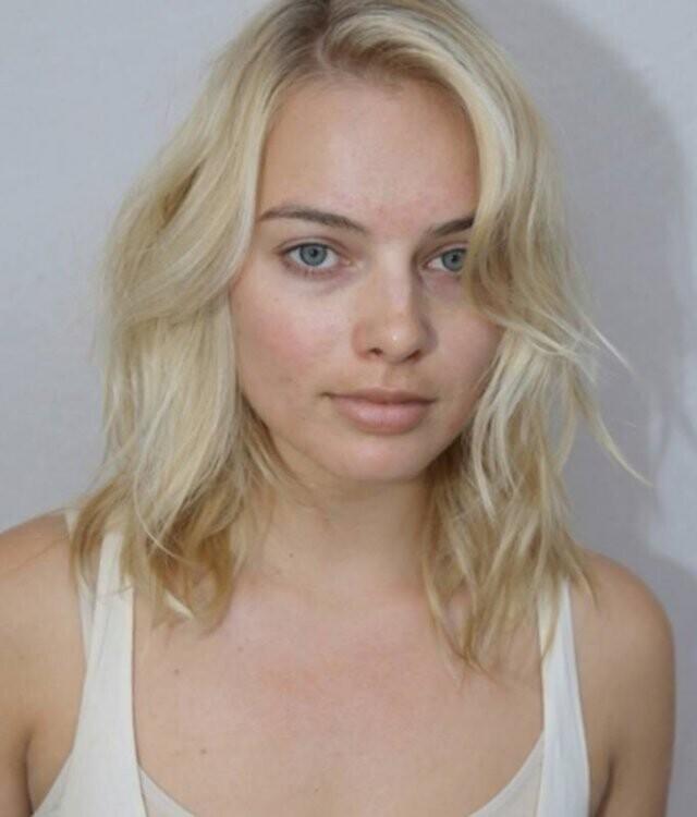 13. Марго Робби без макияжа