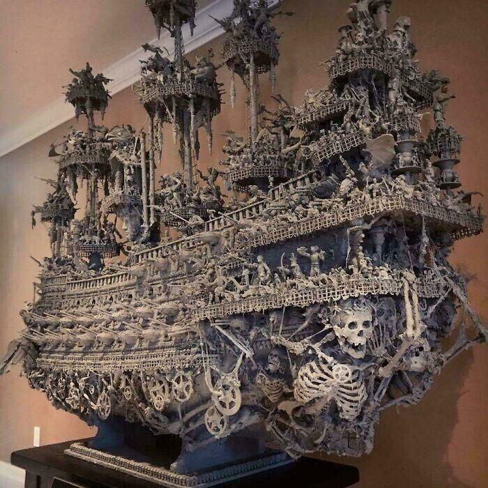 4. Корабль-призрак ручной работы