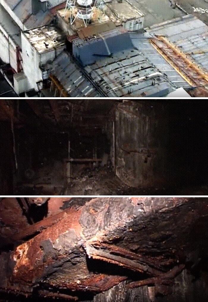 40. Снимки, сделанные внутри Чернобыльского реактора №4