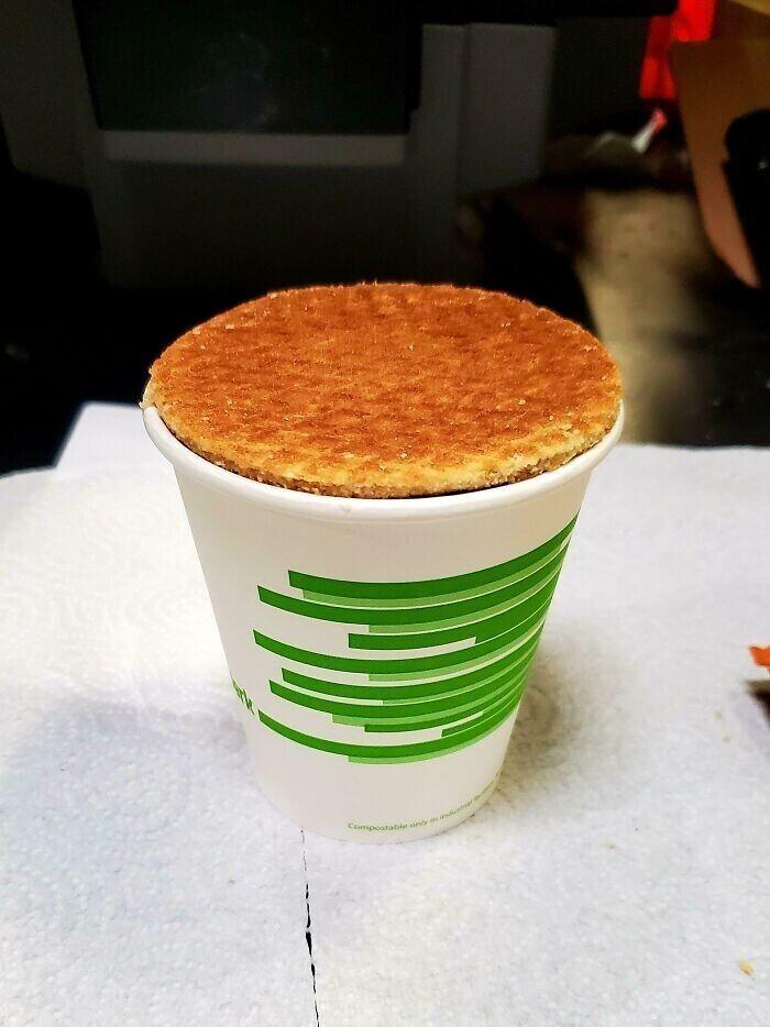 Вафелька размером со стаканчик