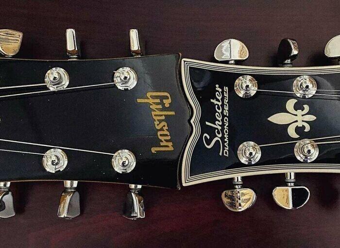 Головы грифов разных гитар