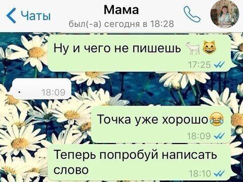 Мама осваивает WhatsApp