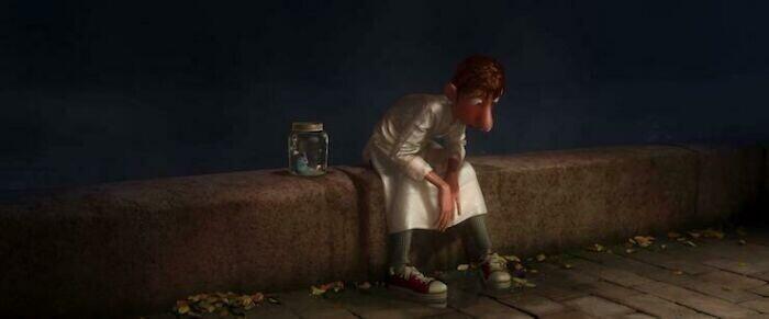 """В ходе создания мультфильма """"Рататуй"""" сотрудник Pixar специально прыгнул в бассейн в униформе шеф-повара, чтобы проверить, как она намокнет и прилипнет ли к телу. Это сделали для того, чтобы сцена с Альфредо Лингвини выглядела реалистичнее"""