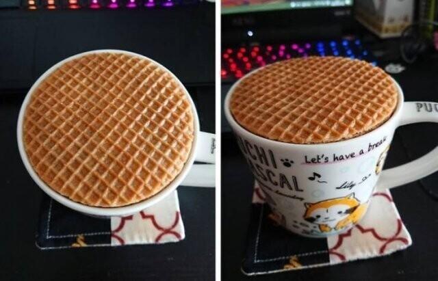 Эти вафелька и кружка созданы друг для друга