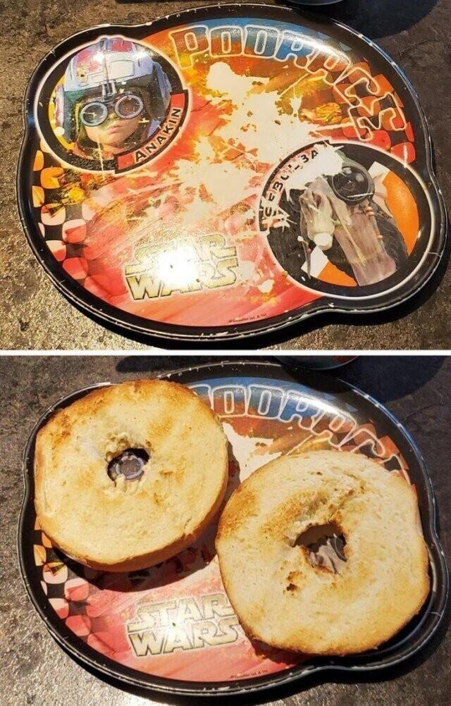 """""""Эта тарелка у меня уже много лет. И я только понял, что она просто создана для этих булочек"""""""