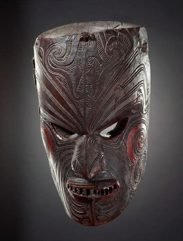 Мата кура, или церемониальная маска, 1800-е годы, Новая Зеландия