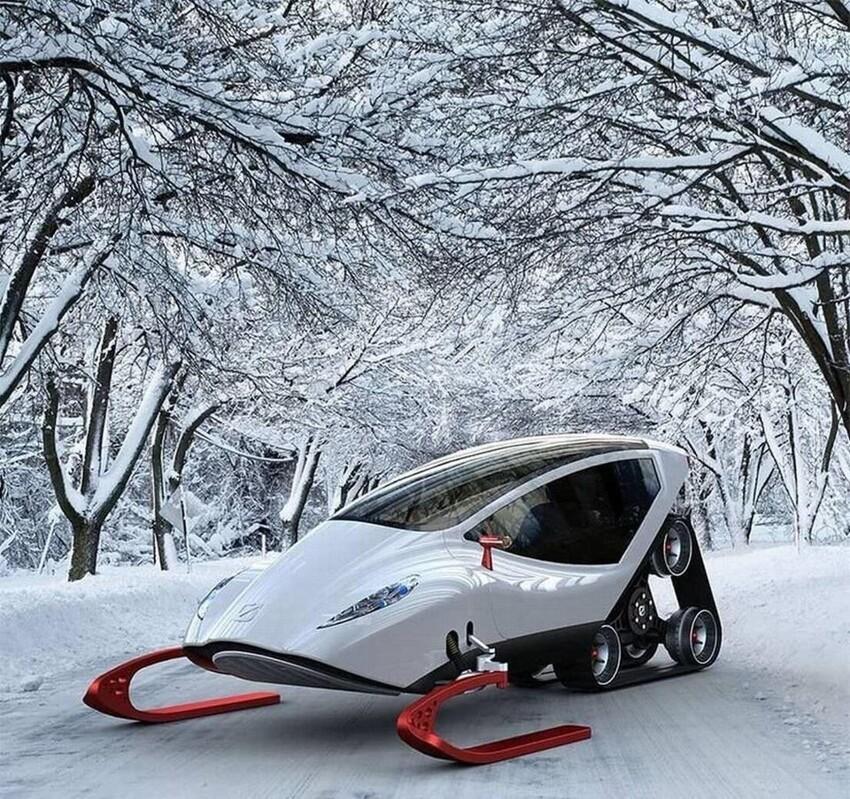Гусеничный снегоход, самый продвинутый среди своих собратьев