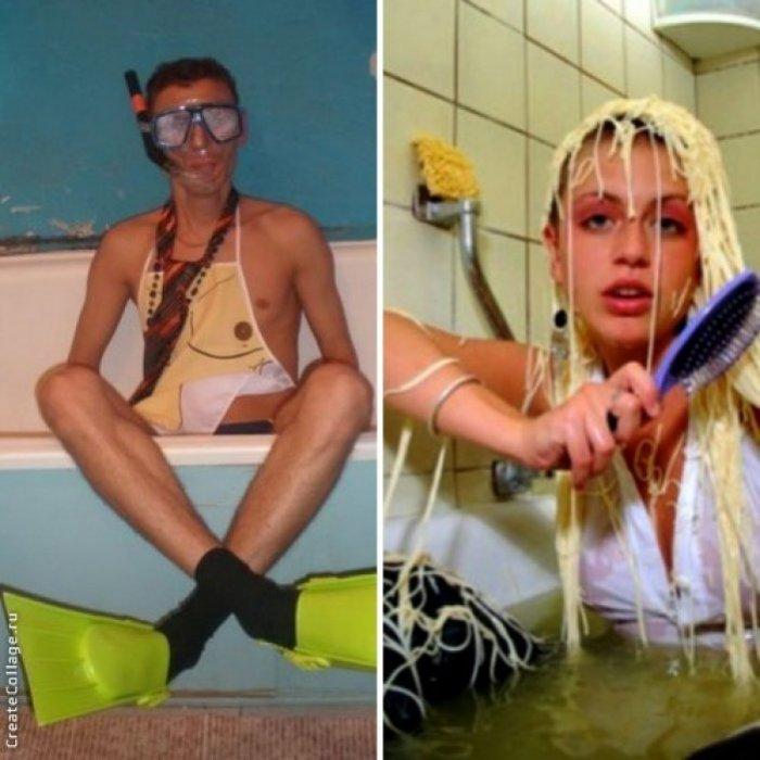 Мокрая жесть или эротика в ванне! Мужчины против женщин (18+...а лучше 21+)