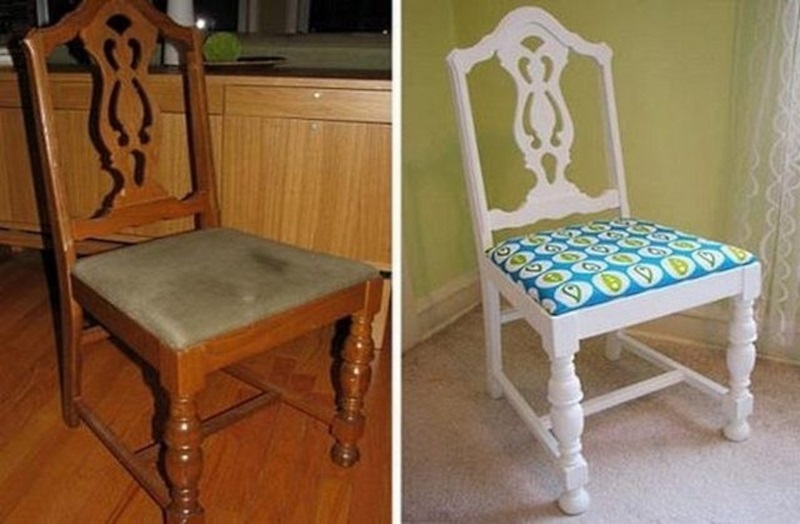 Как украсить стул старые