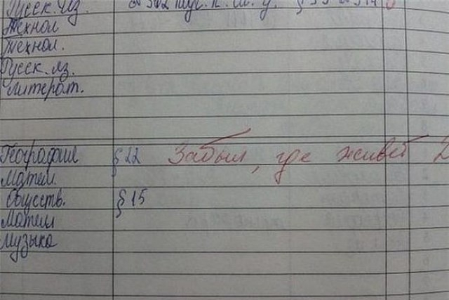 Детишки жгут! 20 супер смешных записей в школьных дневниках!