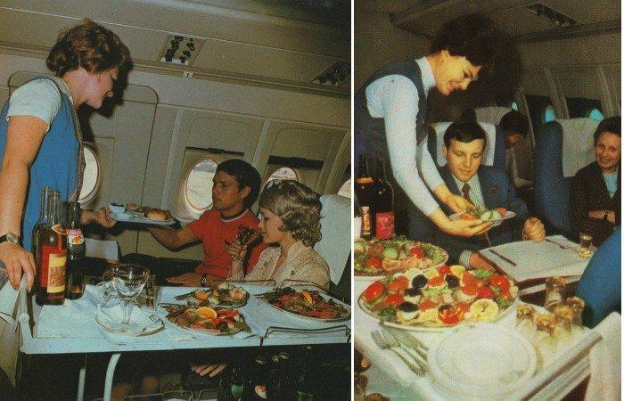Какие потрясающие самолеты были в середине прошлого века, а питание выше всяких похвал! Черная икра на перекус!