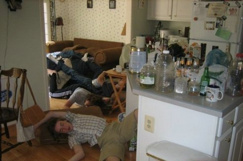 Утро после вечеринки!