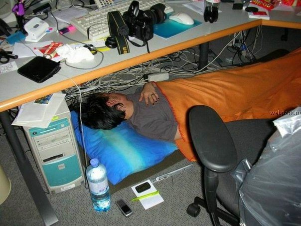 Трудовые будни офисного планктона!