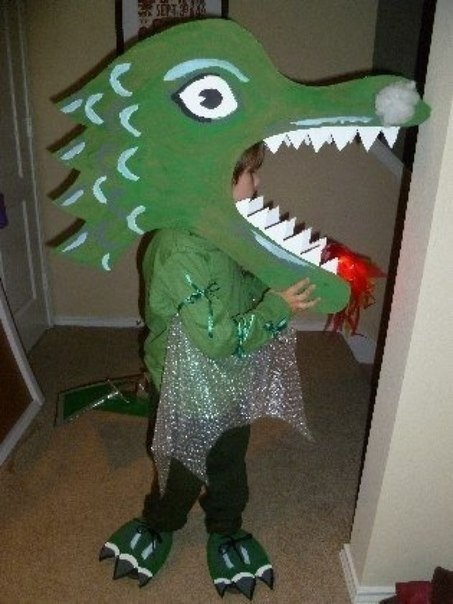 Новогодняя дракона своими руками