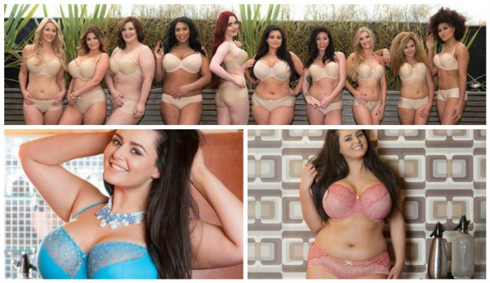 Самая красивая грудь среди моделей размера плюс сайз!