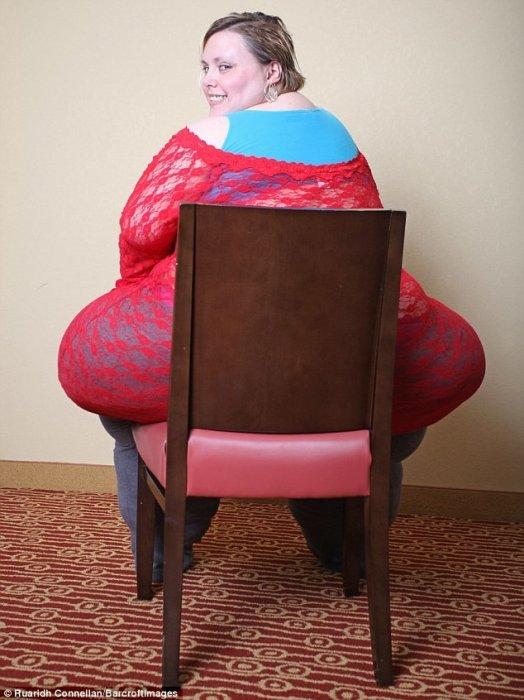 Эта американка весит 220 килограммов и зарабатывает на жизнь эротическими танцами!