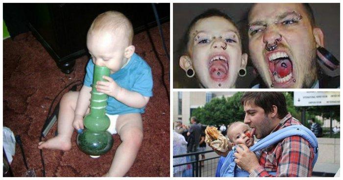 И чему они научат своих детей?..Самые ужасные папаши, которые вас приведут вас в шок!
