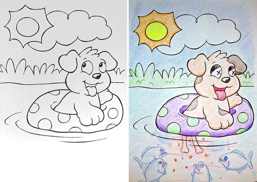 Так вот почему раскраски называются детскими!