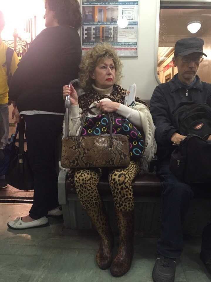 Порция новых модников из российского метрополитена