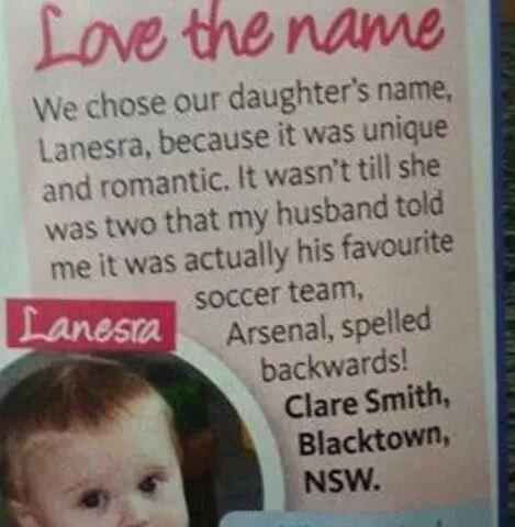 Слишком креативные имена для деток