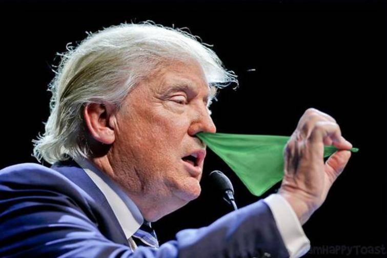 Кандидат в президенты США показывает фокусы