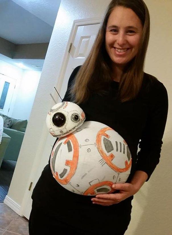 Невероятно творческие костюмы на Хэллоуин для беременных мам