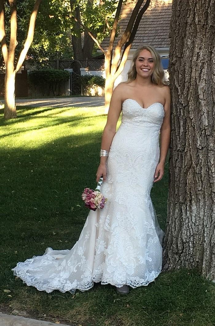 За год невеста сбросила 50 килограммов ради свадьбы. Увидев ее в подвенечном платье, гости ахнули!