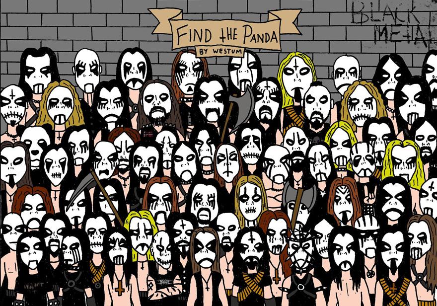 Подборка тестов на внимательность: найди панду