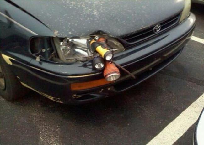 Чересчур творческий подход к починке автомобиля