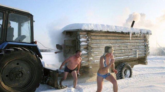 Ходить в баню - старинная русская традиция!