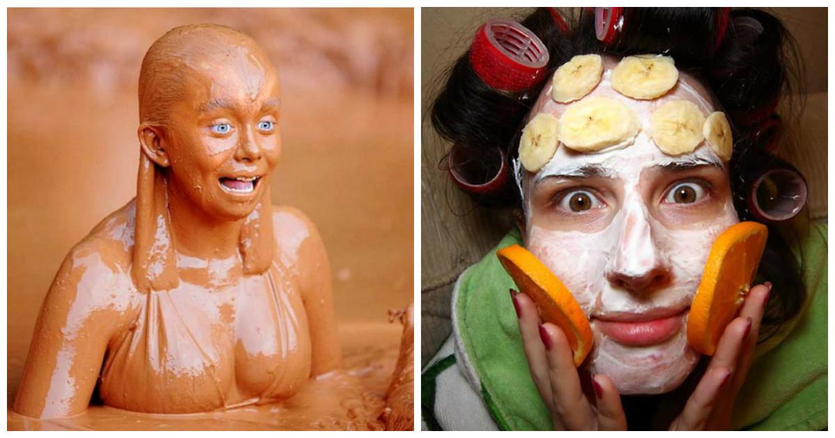 Безумные советы с женских сайтов, или как сделать себя красивой при помощи масок из халвы или массажа пощечинами