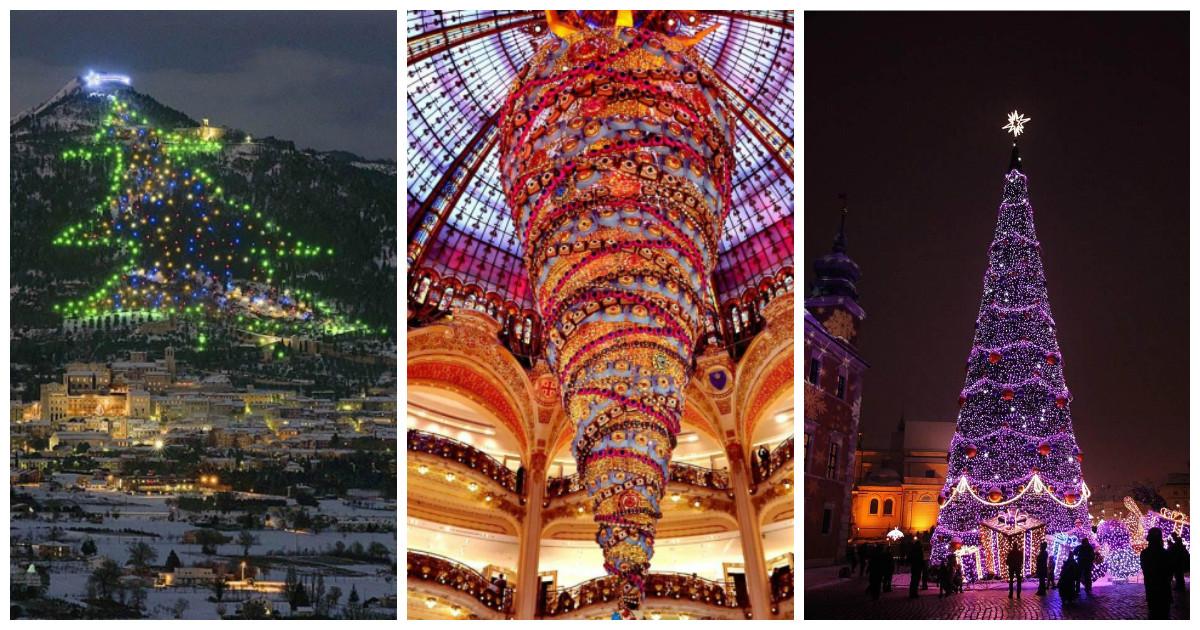 Самые красивые и необычные праздничные ёлки со всего мира