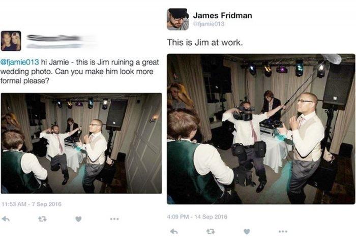 Мастер фотошопа с уникальным чувством юмора, очень тонко посмеялся над своими заказчиками!