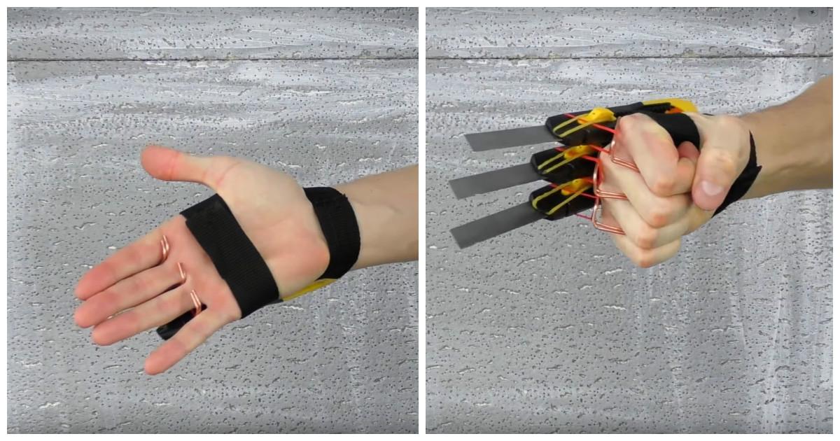 Выдвижные когти Росомахи из канцелярских ножей своими руками