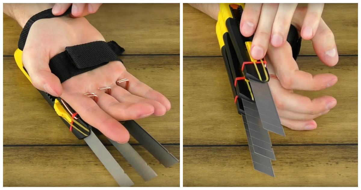 Как сделать когти росомахи из канцелярских ножей