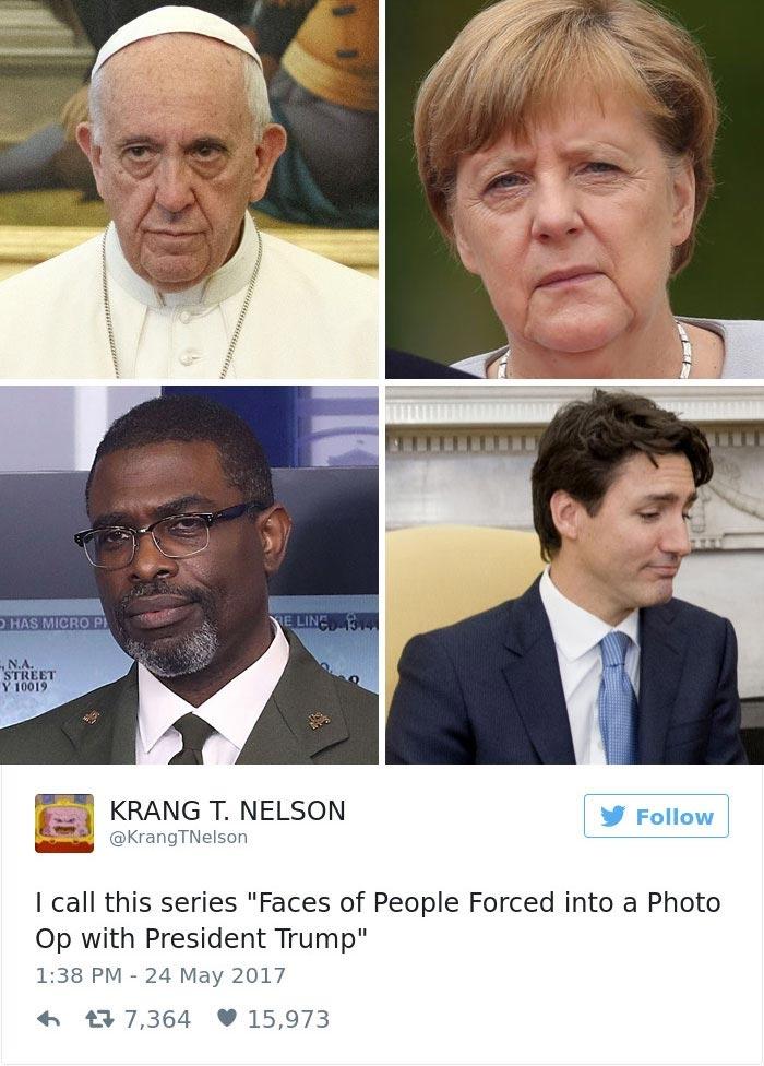 Встречи Дональда Трампа с Папой Римским обернулась шквалом мемов