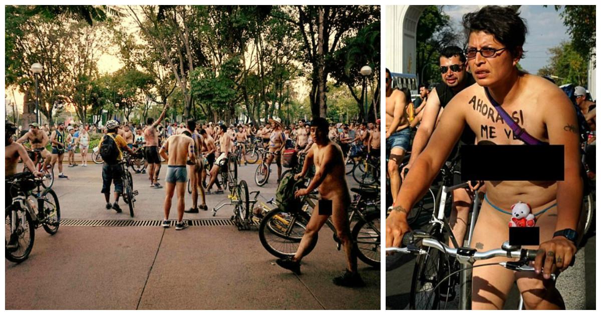 """Движение """"Голышом на велосипеде"""" добралось и до Мексики!"""