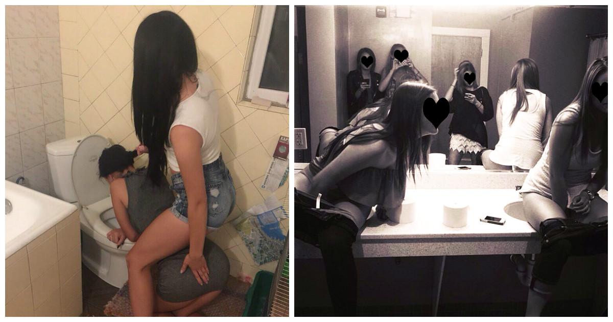 Смотреть как ебут в туалете очень