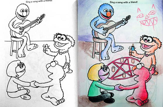 Не давайте детские раскраски взрослым, иначе...)))