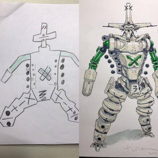 Легким движением папиной руки детские рисунки превращаются...