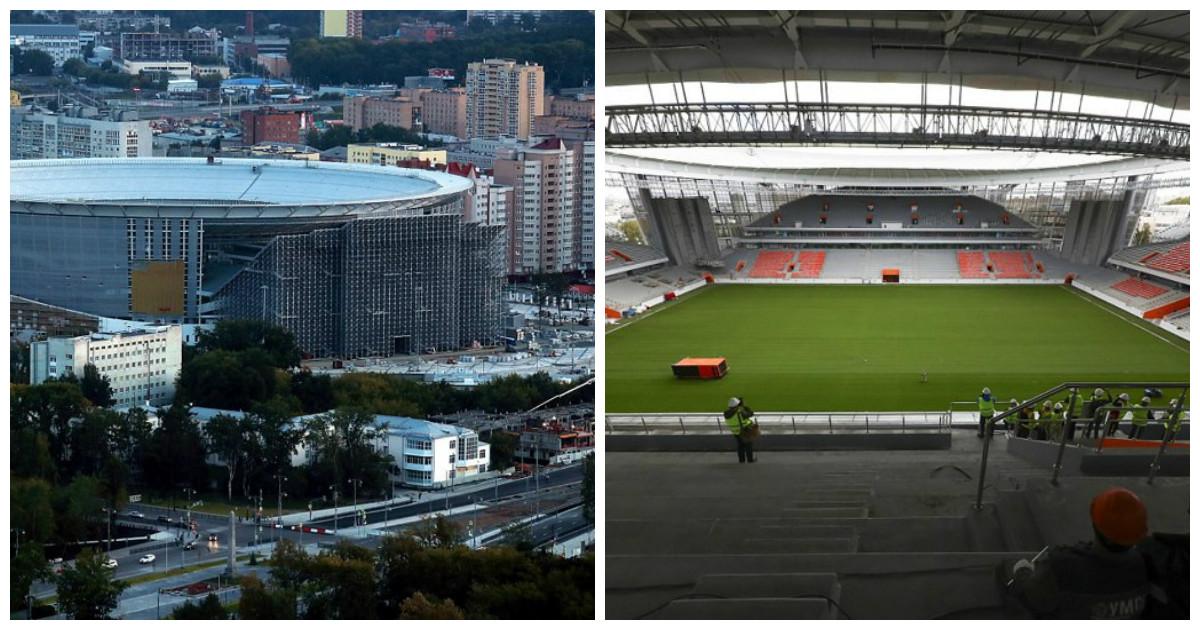Инновационные трибуны стадиона ЧМ-2018 в Екатеринбурге привлекли всеобщее внимание