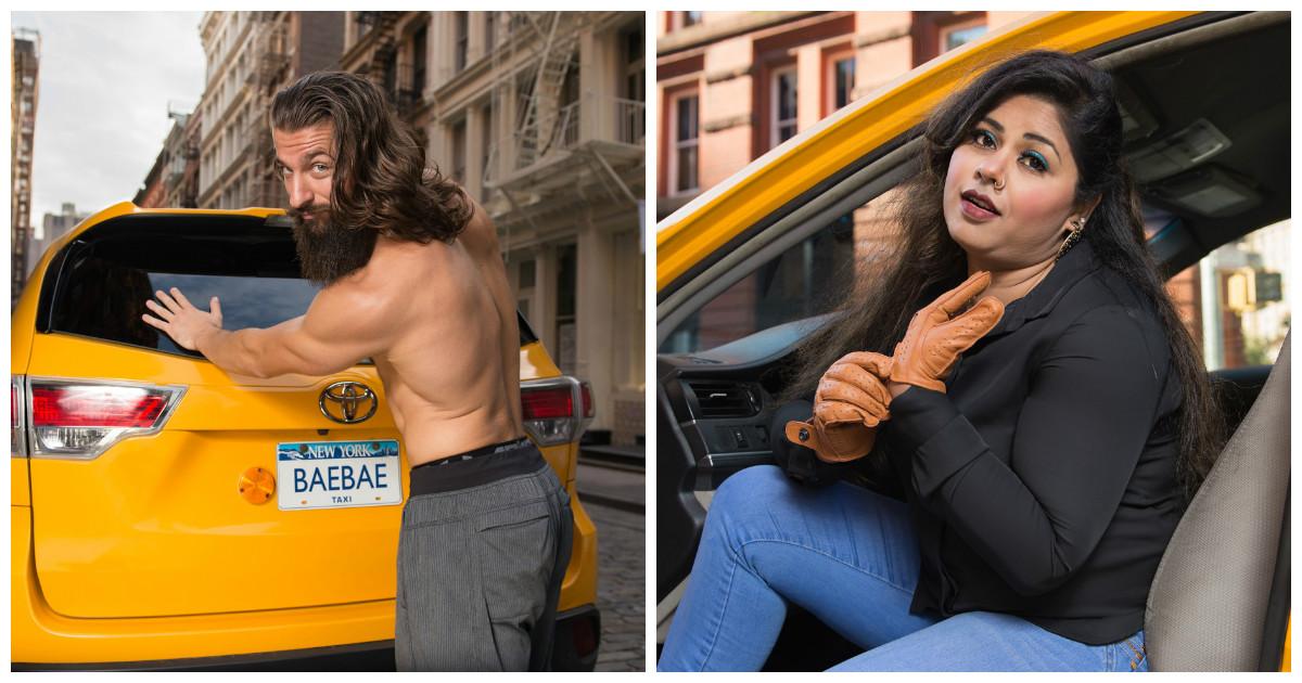 Забавный календарь от нью-йоркских таксистов на 2018 год зарабатывает на благотворительность