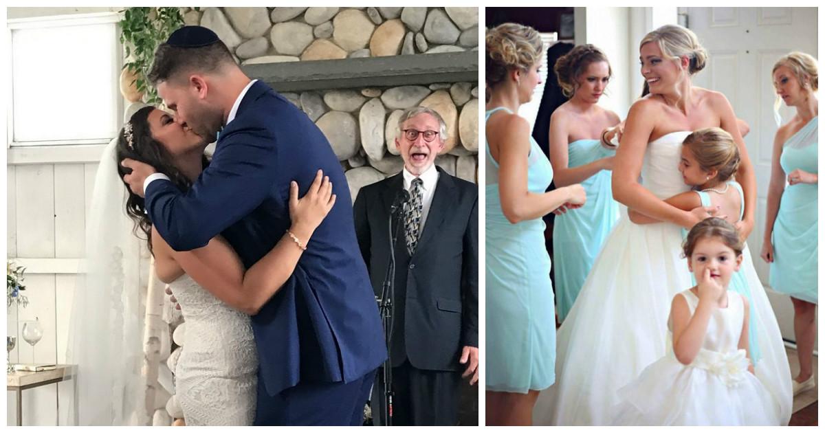 В любом альбоме посвященном свадьбе найдется место для нескольких веселых фото-бомб