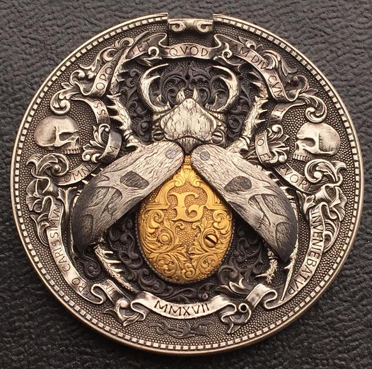 Мастер гравировки из Екатеринбурга создал из обыкновенной монеты очередное произведение искусства