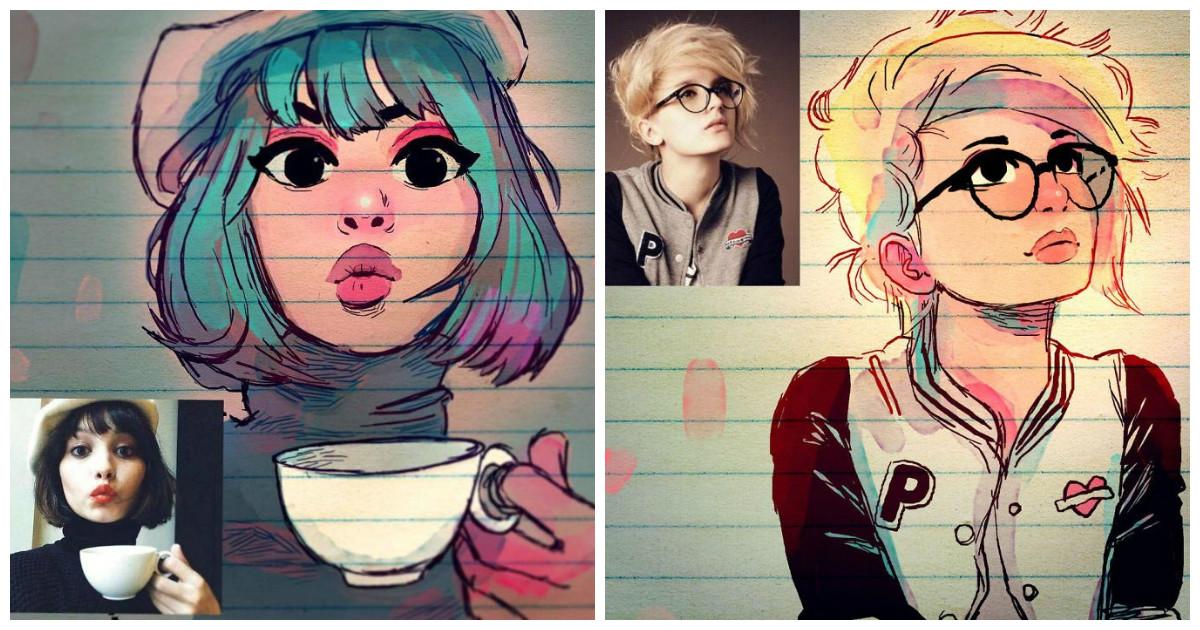 Долой скучные аватарки! Даешь стилизованные портреты!