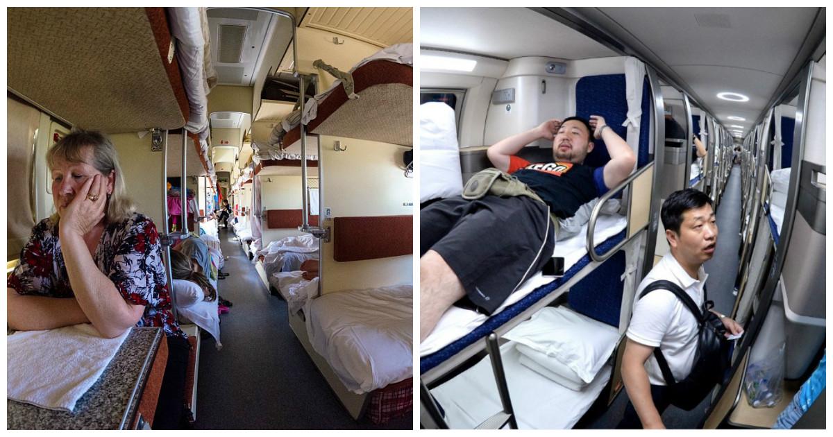 Разницу между плацкартным вагоном в России и Китае видно невооруженным взглядом