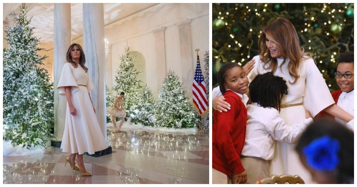 Мелания Трамп к Рождеству в Белом доме готова!