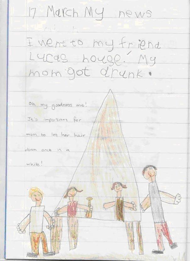 Дети чьи рисунки безжалостно раскрывают тайны родителей