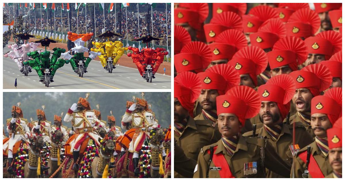 Ну очень пестрые военные парады индийской армии