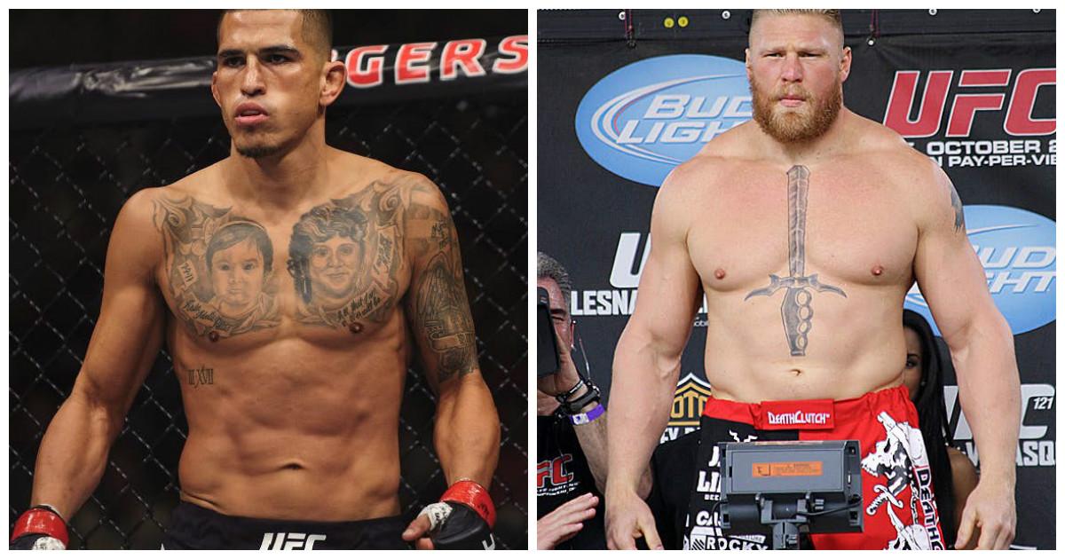 Бойцы смешанных единоборств похоже не отличаются хорошим вкусом в татуировках